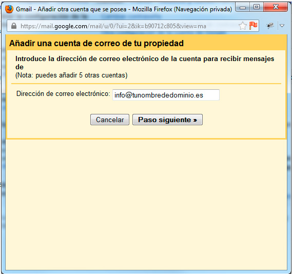 paso1 agregar cuenta pop gmail